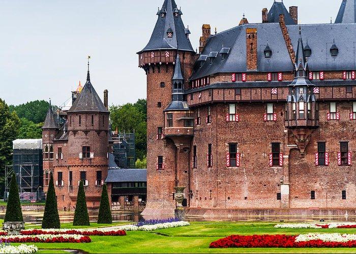 Utrecht Greeting Card featuring the photograph De Haar Castle. Utrecht. Netherlands by Jenny Rainbow