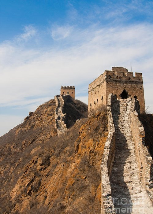 Beijing Greeting Card featuring the photograph Great Wall Of China by Fototrav Print