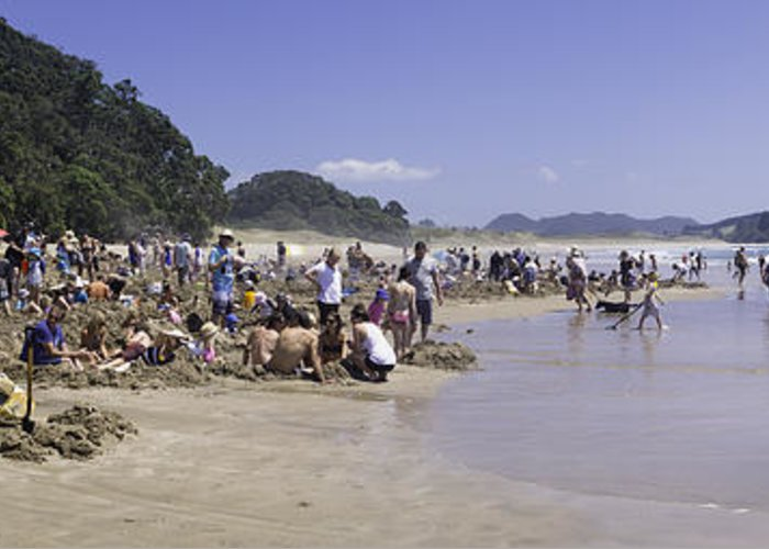 New Zealand Greeting Card featuring the photograph Hot Water Beach by Tim Mulholland