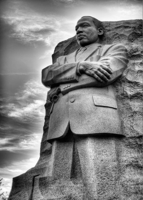 Martin Luther King Jr Memorial Greeting Card featuring the photograph I Have A Dream by JC Findley