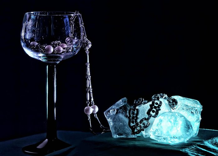 Goblet Greeting Card featuring the photograph Ice by Camille Lopez