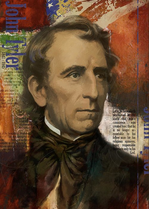 John Tyler Greeting Card featuring the painting John Tyler by Corporate Art Task Force