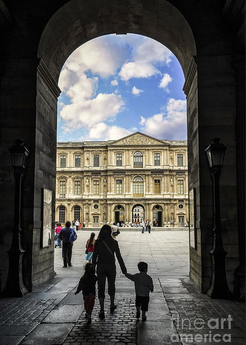 Louvre Greeting Card featuring the photograph Louvre by Elena Elisseeva