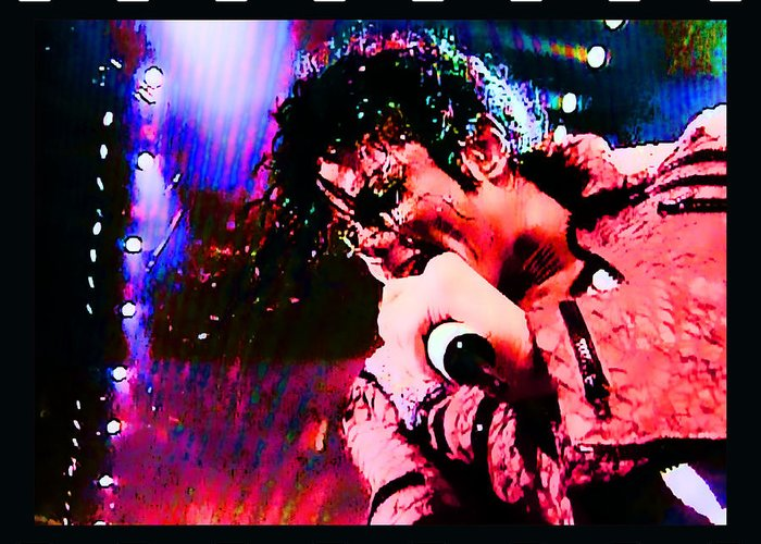 Michael Jackson Singer Artist Song King Of Pop Street Art Robot Moonwalk Thriller Off The Wall Bad Dangerous History Rock And Roll Hall Of Fame Grammy Award Michael Jackson Singer Artist Song King Of Pop Street Art Robot Moonwalk Thriller Off The Wall Bad Dangerous History Rock And Roll Hall Of Fame Grammy Award Michael Jackson Singer Artist Song King Of Pop Street Art Robot Moonwalk Thriller Off The Wall Bad Dangerous History Rock And Roll Hall Of Fame Grammy Award Greeting Card featuring the digital art Michael Jackson by RJ Aguilar