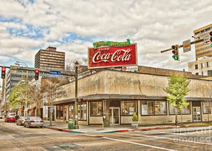 Baton Rouge Greeting Card featuring the photograph On The Corner by Scott Pellegrin