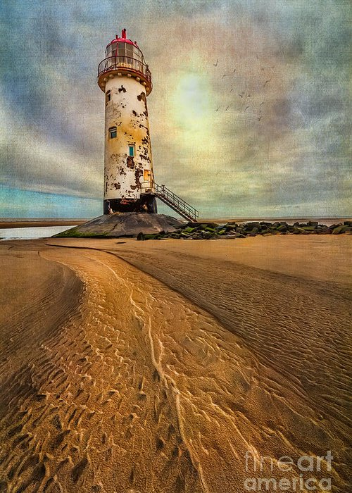 British Greeting Card featuring the photograph Point Of Ayre Lighthouse by Adrian Evans