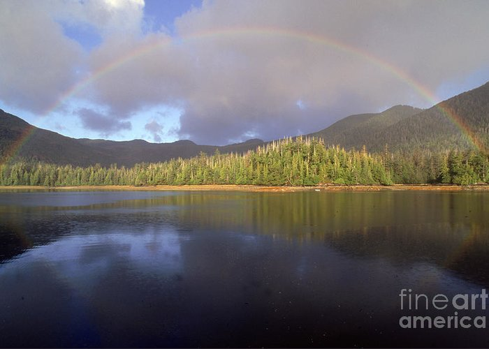 Rainbow Greeting Card featuring the photograph Rainbow by Art Wolfe
