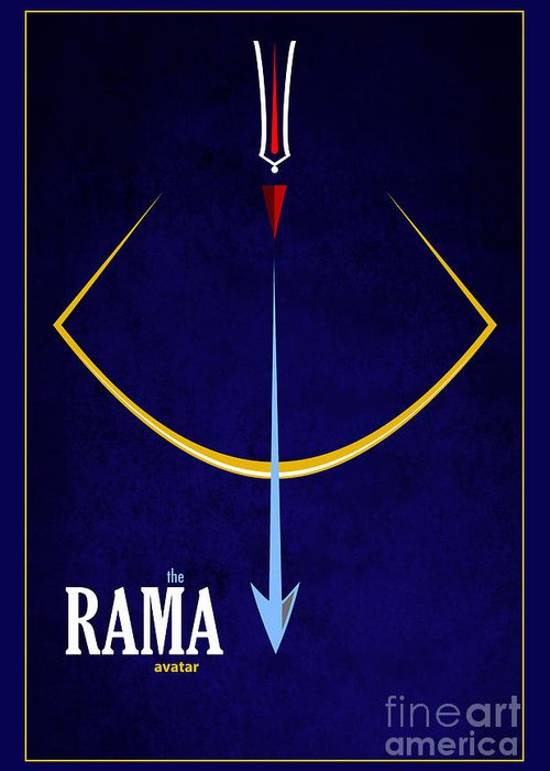 Rama Greeting Card featuring the photograph Rama The Avatar by Tim Gainey