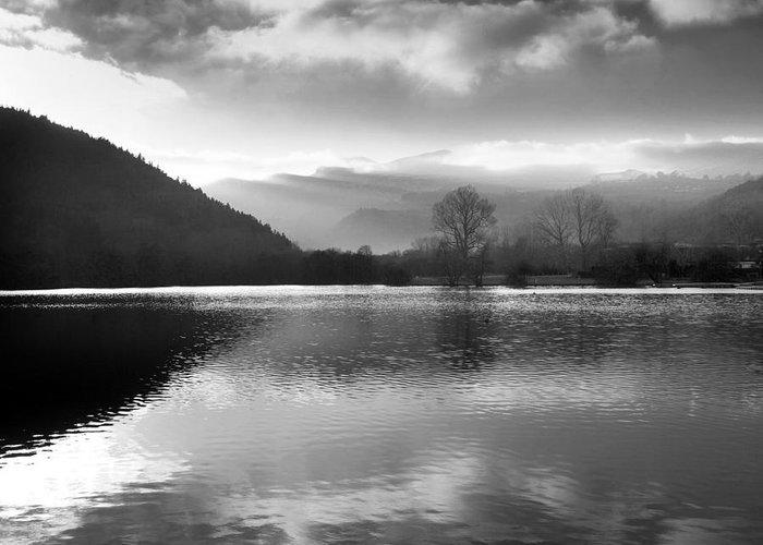 Auvergne Greeting Card featuring the photograph Romantic Lake by Bernard Jaubert