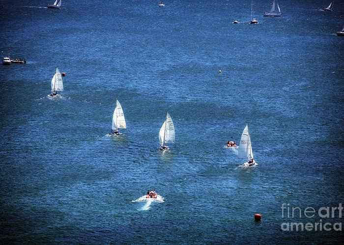 Sailing Greeting Card featuring the photograph Sailing by John Rizzuto