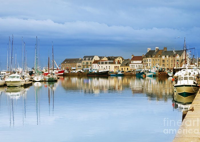 Calm Greeting Card featuring the photograph Saint-vaast-la-hougue Normandy France by Colin and Linda McKie