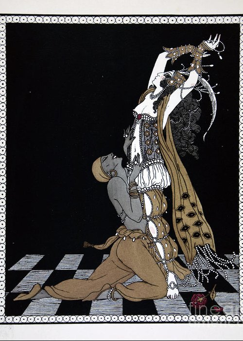 Scheherazade Greeting Card featuring the painting Scheherazade by Georges Barbier