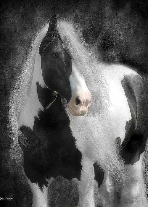 Horses Greeting Card featuring the digital art Slainte by Fran J Scott