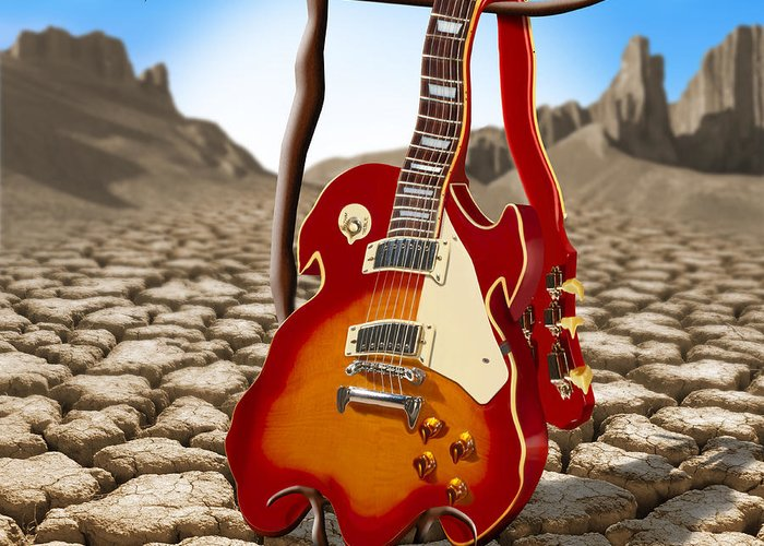 Surrealism Greeting Card featuring the photograph Soft Guitar II by Mike McGlothlen