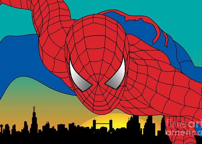 Pop Culture Greeting Card featuring the digital art Spiderman by Mark Ashkenazi
