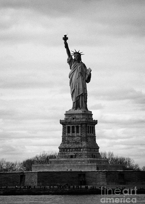 Usa Greeting Card featuring the photograph Statue Of Liberty Liberty Island New York City Usa by Joe Fox