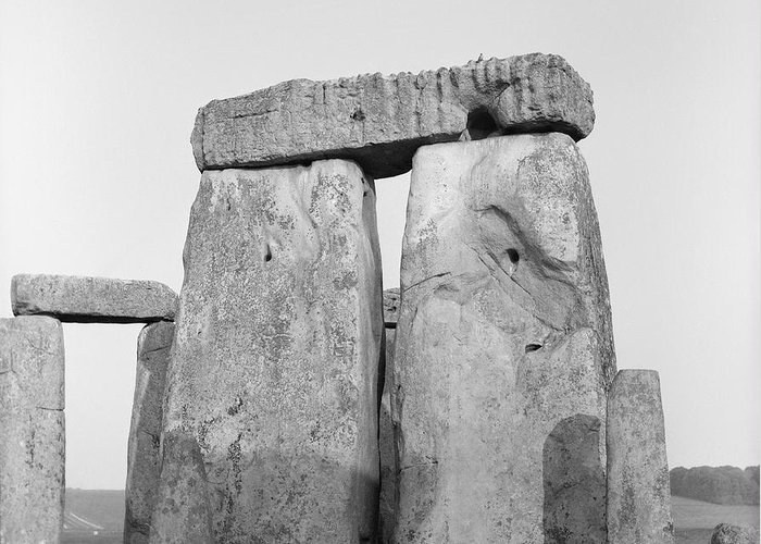 Stone Greeting Card featuring the photograph Stonehenge by Anonymous
