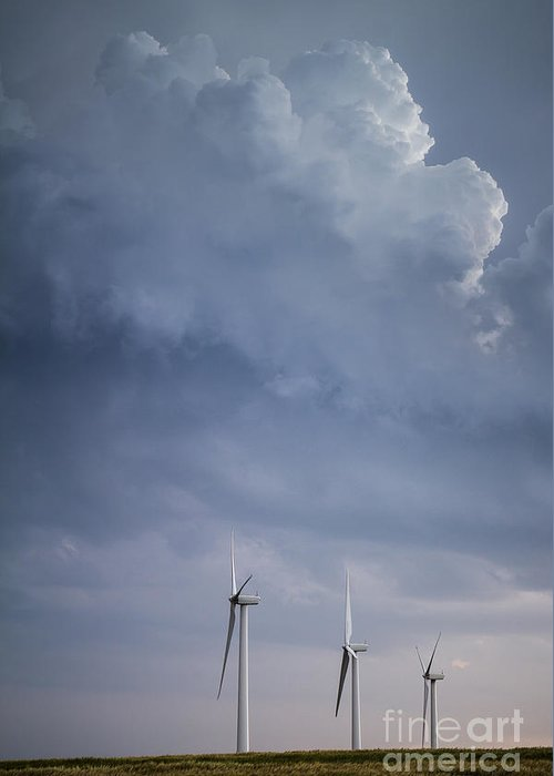 Stormy Skies Greeting Card featuring the photograph Stormy Skies by Jim McCain