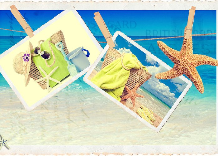 Beach Greeting Card featuring the photograph Summer Postcards by Amanda Elwell