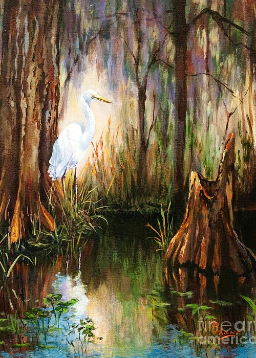 New Orleans Art Greeting Card featuring the painting The Surveyor by Dianne Parks