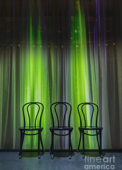 Chairs Greeting Card featuring the photograph Three by Margie Hurwich
