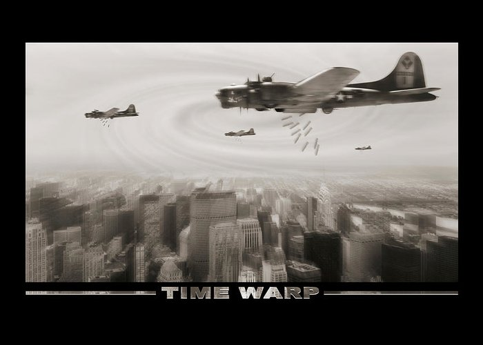 Warbird Ww2 Greeting Card featuring the photograph Time Warp by Mike McGlothlen