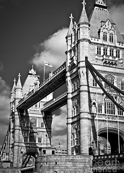 Tower Greeting Card featuring the photograph Tower Bridge In London by Elena Elisseeva