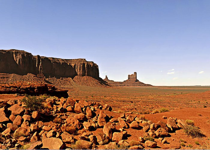 Monument Greeting Card featuring the photograph Utah's Iconic Monument Valley by Christine Till