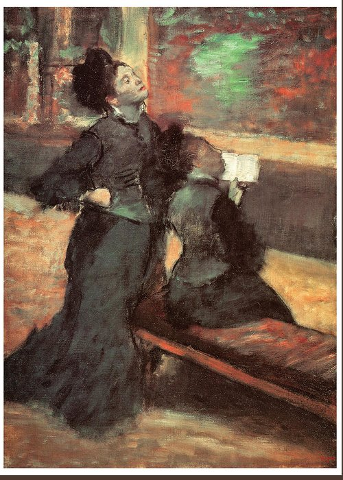 Edgar Degas Greeting Card featuring the painting Visit To A Museum by Edgar Degas