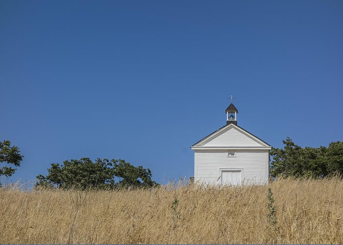 California Greeting Card featuring the photograph White Country Church by David Litschel