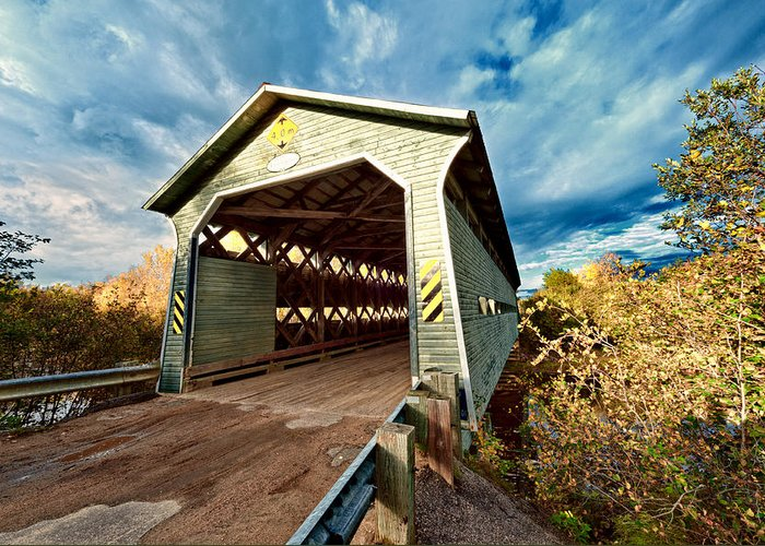 Bridge Greeting Card featuring the photograph Wooden Covered Bridge by Ulrich Schade