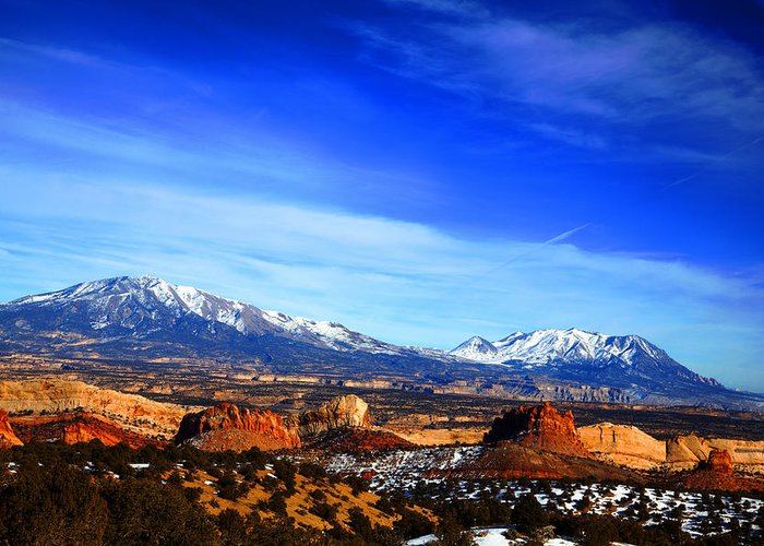 Capitol Reef National Park Greeting Card featuring the photograph Capitol Reef National Park Burr Trail by Mark Smith