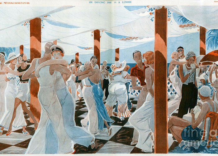 1930�s Greeting Card featuring the drawing La Vie Parisienne 1931 1930s France Cc by The Advertising Archives