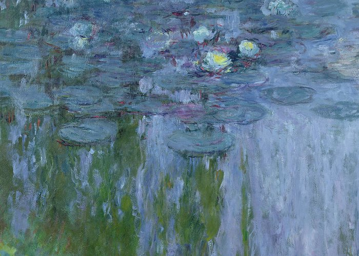 Nympheas Greeting Card featuring the painting Waterlilies by Claude Monet