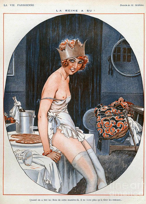 1920�s Greeting Card featuring the drawing La Vie Parisienne 1926 1920s France Cc by The Advertising Archives