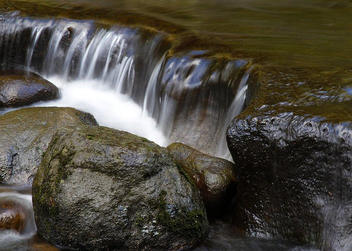 Beautiful Greeting Card featuring the photograph Waterfall by Les Cunliffe