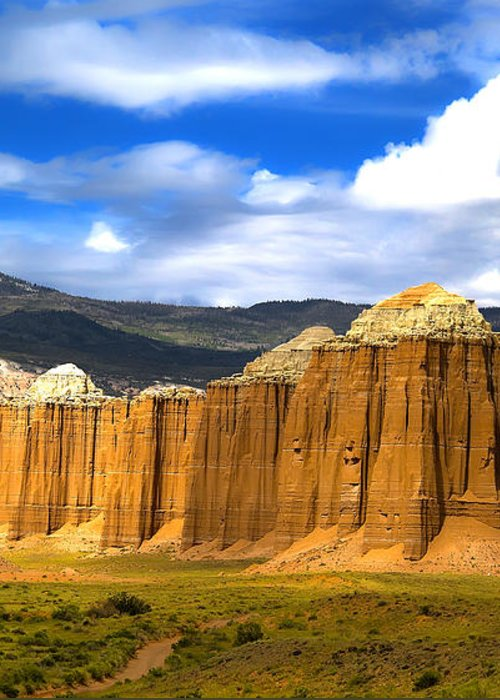 Capitol Reef National Greeting Card featuring the photograph Capitol Reef National Park Cathedral Valley by Mark Smith