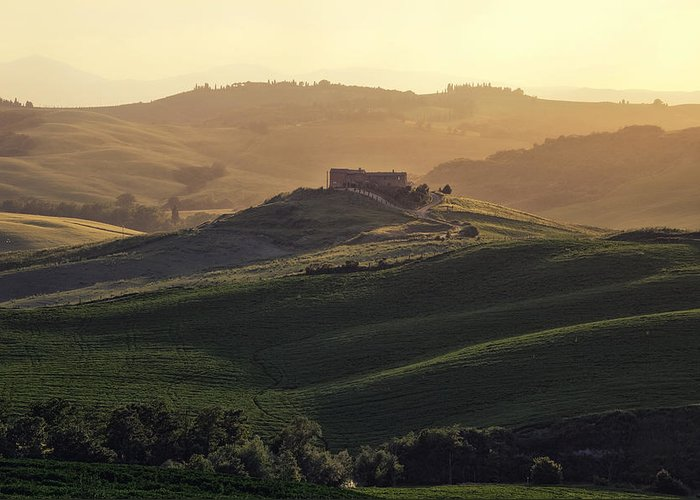 Pienza Greeting Card featuring the photograph Tuscany - Val D'orcia by Joana Kruse