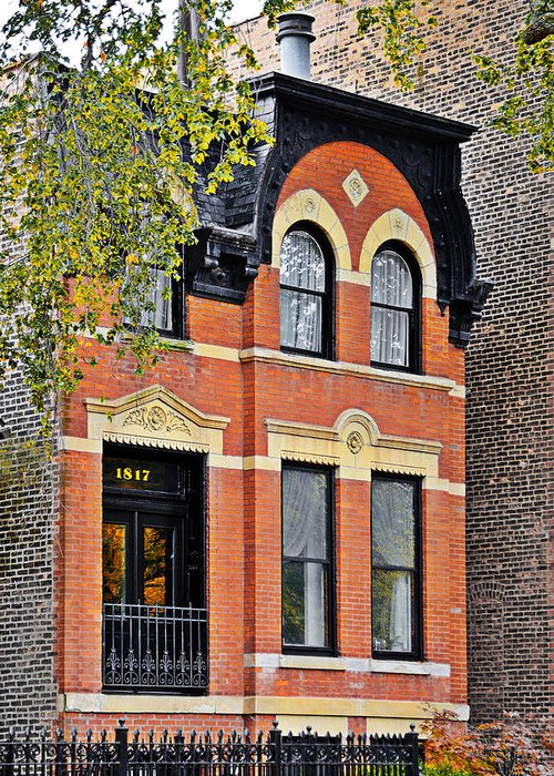 Chicago Greeting Card featuring the photograph 1817 N Orleans St Old Town Chicago by Christine Till