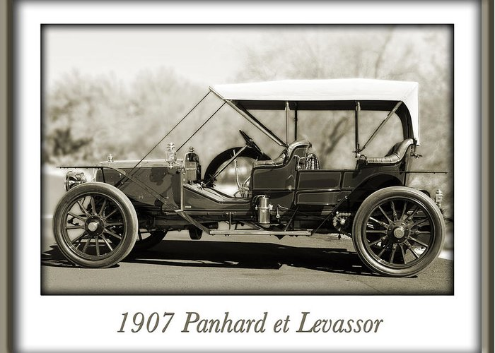 1907 Panhard Et Levassor Greeting Card featuring the photograph 1907 Panhard Et Levassor by Jill Reger