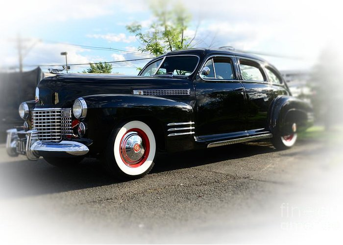 1941 Cadillac Coupe Greeting Card featuring the photograph 1941 Cadillac Coupe by Paul Ward