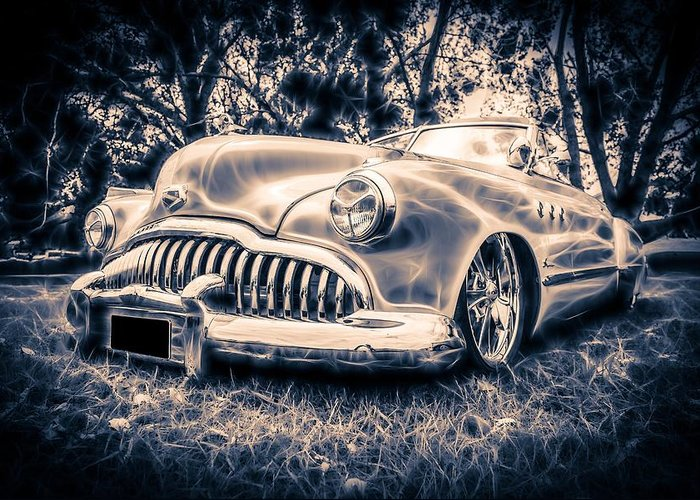 1949 Buick Greeting Card featuring the photograph 1949 Buick Eight Super by motography aka Phil Clark