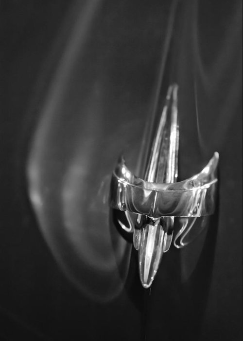 1949 Mercury Woody Wagon Greeting Card featuring the photograph 1949 Mercury Woody Wagon Hood Ornament 2 by Jill Reger
