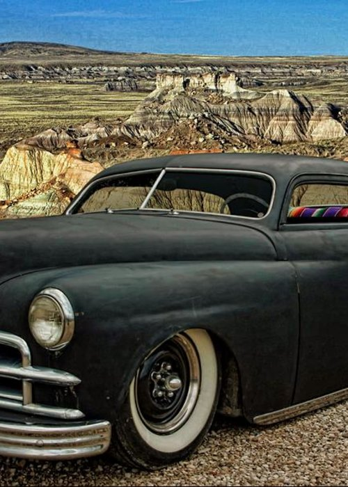 1949 Greeting Card featuring the photograph 1949 Plymouth Low Rider by Tim McCullough