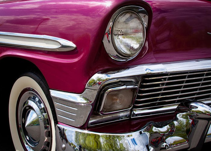 56 Greeting Card featuring the photograph 1956 Chevy Bel Air by David Patterson