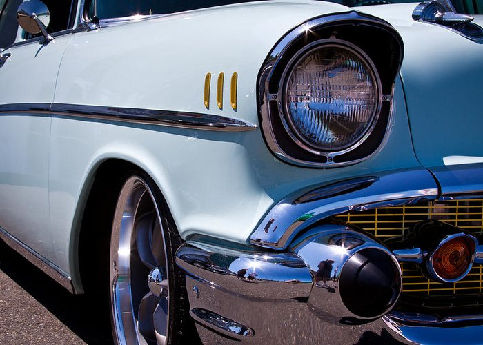 57 Greeting Card featuring the photograph 1957 Chevy Bel Air Custom Hot Rod by David Patterson