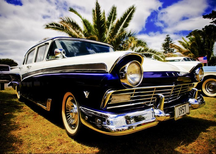 1957 Ford Custom Greeting Card featuring the photograph 1957 Ford Custom by motography aka Phil Clark
