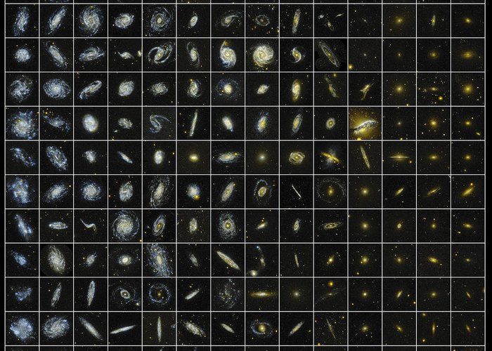 Ultraviolet Greeting Card featuring the photograph 196 Galaxies by Science Source