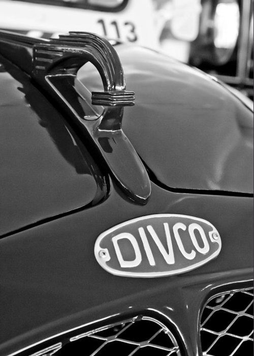 1965 Divco Greeting Card featuring the photograph 1965 Divco Milk Truck Hood Ornament 3 by Jill Reger