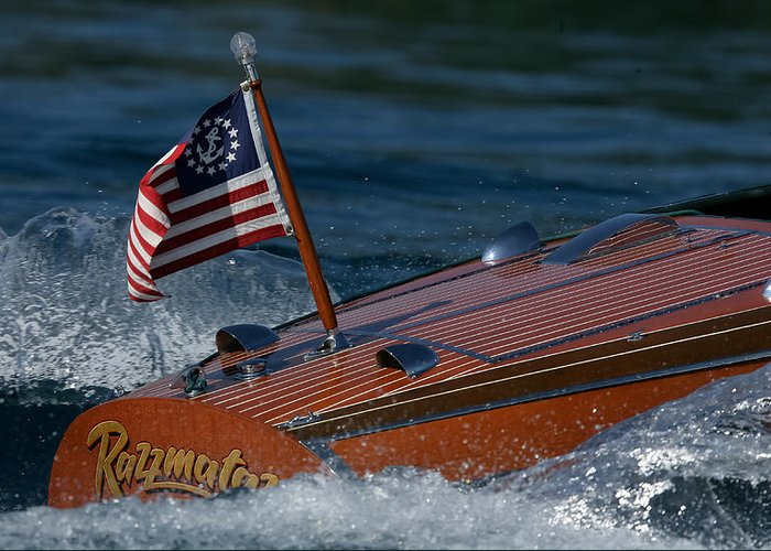 Barrel Greeting Card featuring the photograph Chris-craft Classic by Steven Lapkin